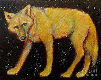 Painting - Dark Sky Coyote by Carol Suzanne Niebuhr