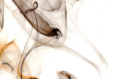 Dark Smoke On A White Background Art Print
