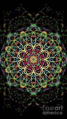 Dark Spin Flower Original by Denisse Del Mar Guevara