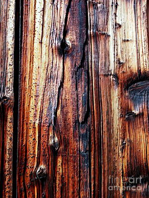 Photograph - Dark Stained Wood Grain by Janine Riley