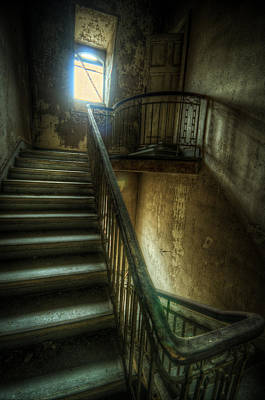 Digital Art - Dark Stairs by Nathan Wright