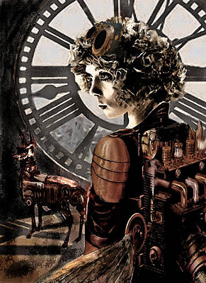 Digital Art - Dark Steampunk by Jane Schnetlage