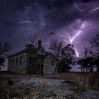 Lightning Photograph - Dark Stormy Place by Aaron J Groen