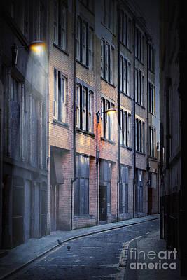 Eerie Digital Art - Dark Street by Svetlana Sewell