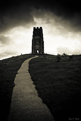 Photograph - Dark Tor - Gothic Glastonbury by Mark E Tisdale