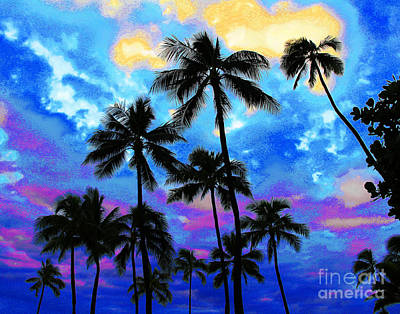 Photograph - Dark Waikiki Beach Dusk by Larry Oskin