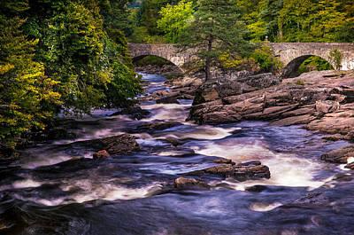 Photograph - Dark Waters Of Dochart Falls. Scotland by Jenny Rainbow