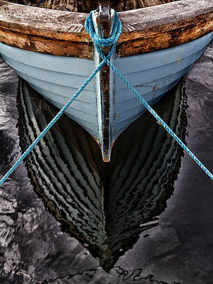 Boat Photograph - Dark Waters by Stelios Kleanthous