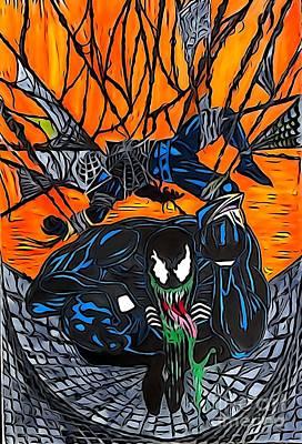 Darkhawk Illustration Color Art Print by Justin Moore