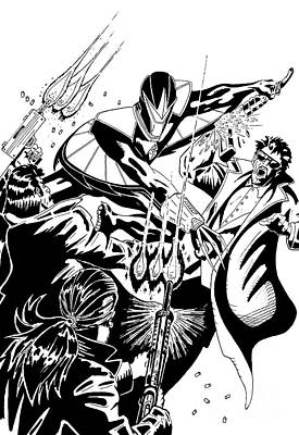 Area 613 Comics Drawing - Darkhawk Issue 1 Homage To Mike Manley by Justin Moore