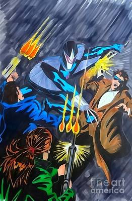 Darkhawk Issue 1 Watercolor Art Print by Justin Moore