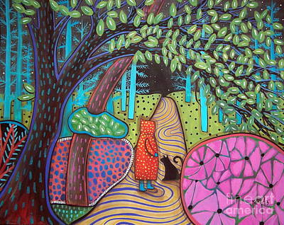 Folk Art Painting - Darkness Comes by Karla Gerard