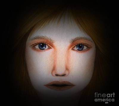Darkness   Face Art By Saribelle Rodriguez Art Print