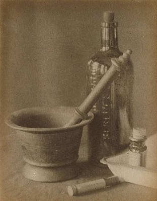 Platinum Drawing - Darkroom Still Life Doris Ulmann, American by Litz Collection