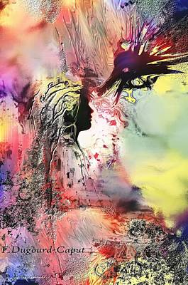 Abstract Painting - Darkside by Francoise Dugourd-Caput