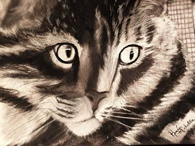 Darling Cat Art Print by Renee Michelle Wenker
