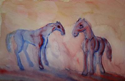Response Painting - Darling I Feel So Blue It Must Be My Melancholia  by Hilde Widerberg