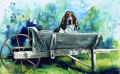 Painting - Darn Dog Days by Hanne Lore Koehler