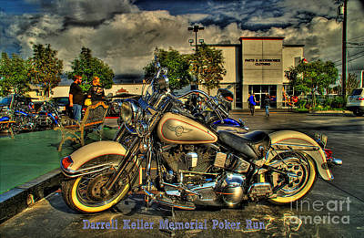 Photograph - Darrell Keller Memorial Poker Run by Phillip Allen
