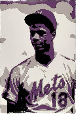 Major League Baseball Painting - Darryl Strawberry Poster Art by Florian Rodarte