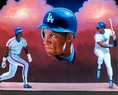 Painting - Darryl Strawberry by Thomas Kolendra