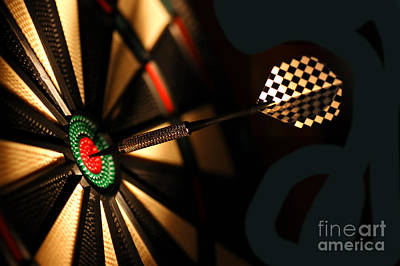Excellence Photograph - Dart Board In Bar by Michal Bednarek