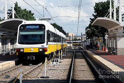 Dart Train Dallas Texas Art Print by Bill Cobb