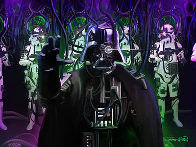 Painting - Darth Borg by Brett Hardin