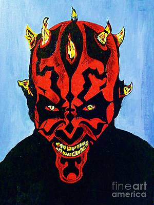 Painting - Darth Maul 4 by Saundra Myles