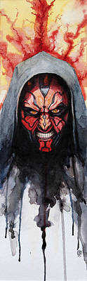 Painting - Darth Maul by David Kraig