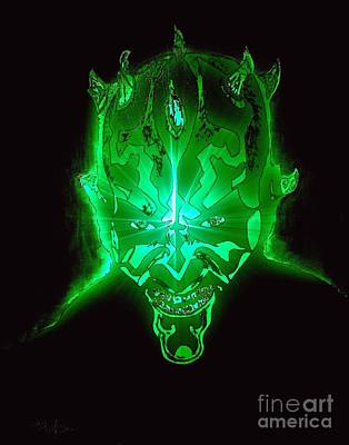 Painting - Darth Maul Green Glow by Saundra Myles