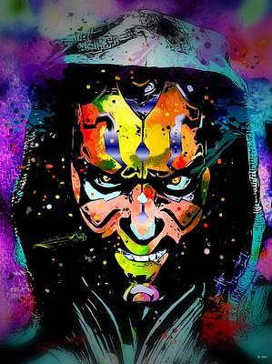 Character Portraits Painting - Darth Maul Star Wars by Daniel Janda