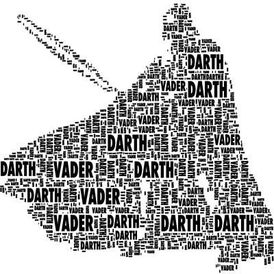Space Ships Mixed Media - Darth Vader by Chris Fulks