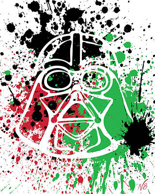 Darth Vader Goes Splat Art Print by Decorative Arts