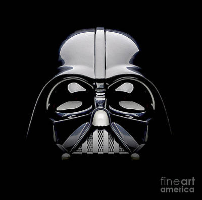 Movie Poster Photograph - Darth Vader Helmet by Jon Neidert