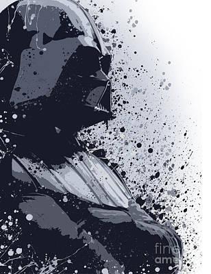 Darth Vader Ink Art Print