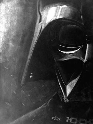 Disturbing Drawing - Darth Vader Inverted Drawing by Jaedin Always