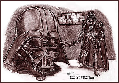 Darth Vader Lord Of The Sith Art Print by Chris  DelVecchio