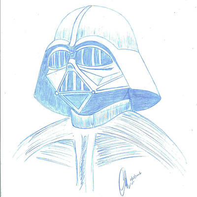 Drawing - Darth Vader Squared by Chris Thomas