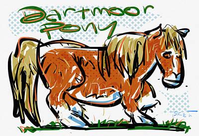 Dartmooor Pony Art Print