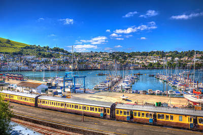 Dartmouth Railway Station Devon  Art Print by Michael Charles