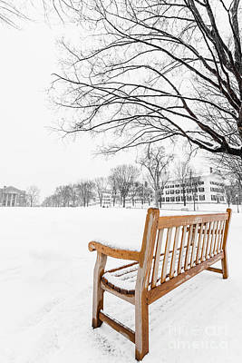 New Hampshire Photograph - Dartmouth Winter Wonderland by Edward Fielding