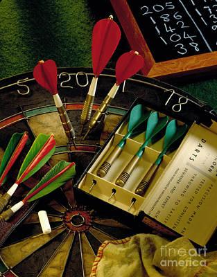 Board Game Photograph - Darts by Simon Kayne