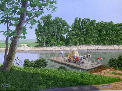 Painting - Darwin Ferry by C Robert Follett
