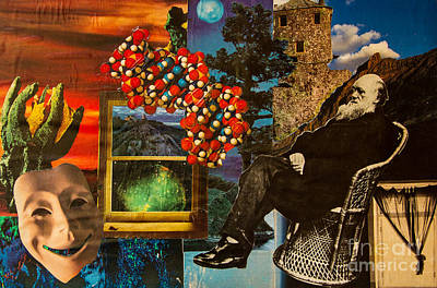 Wiese Mixed Media - Darwin Out The Window by Kathryn E WIESE