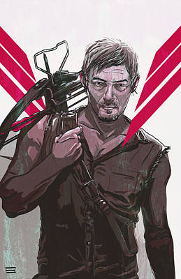Walking Dead Digital Art - Daryl Dixon by Jeremy Scott