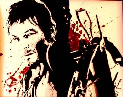 Boondocks Painting - Daryl Dixon by Lauren Anne