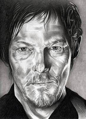 Daryl Dixon - The Walking Dead Art Print by Fred Larucci