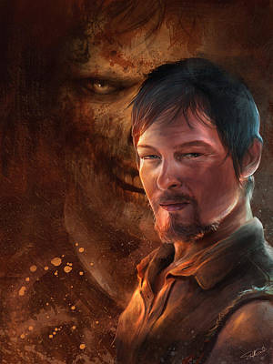Digital Art - Daryl by Steve Goad