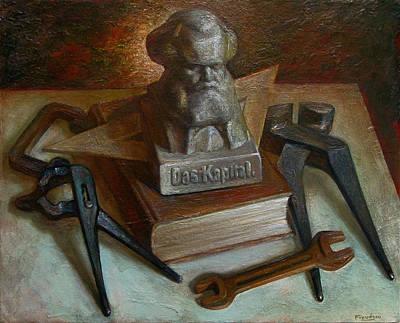 Karl Marx Painting - Das Kapital by Felix Freudzon